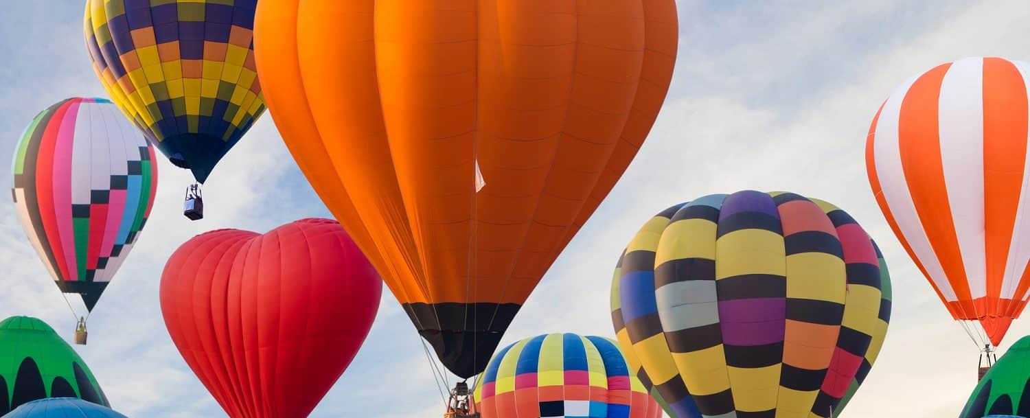 Hot air balloons at one of the best NC fall festivals