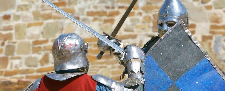 Two knights fighting at the Carolina Renaissance Festival