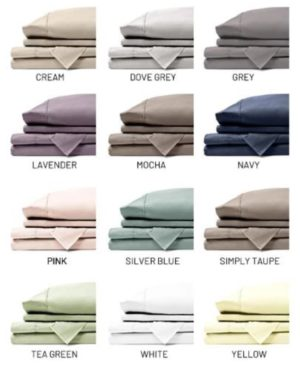 Multiple swatches of colors for sheets