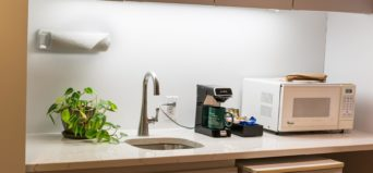 kitchenette in family suite at Davidson Village Inn