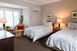 twin room at Davidson Village Inn