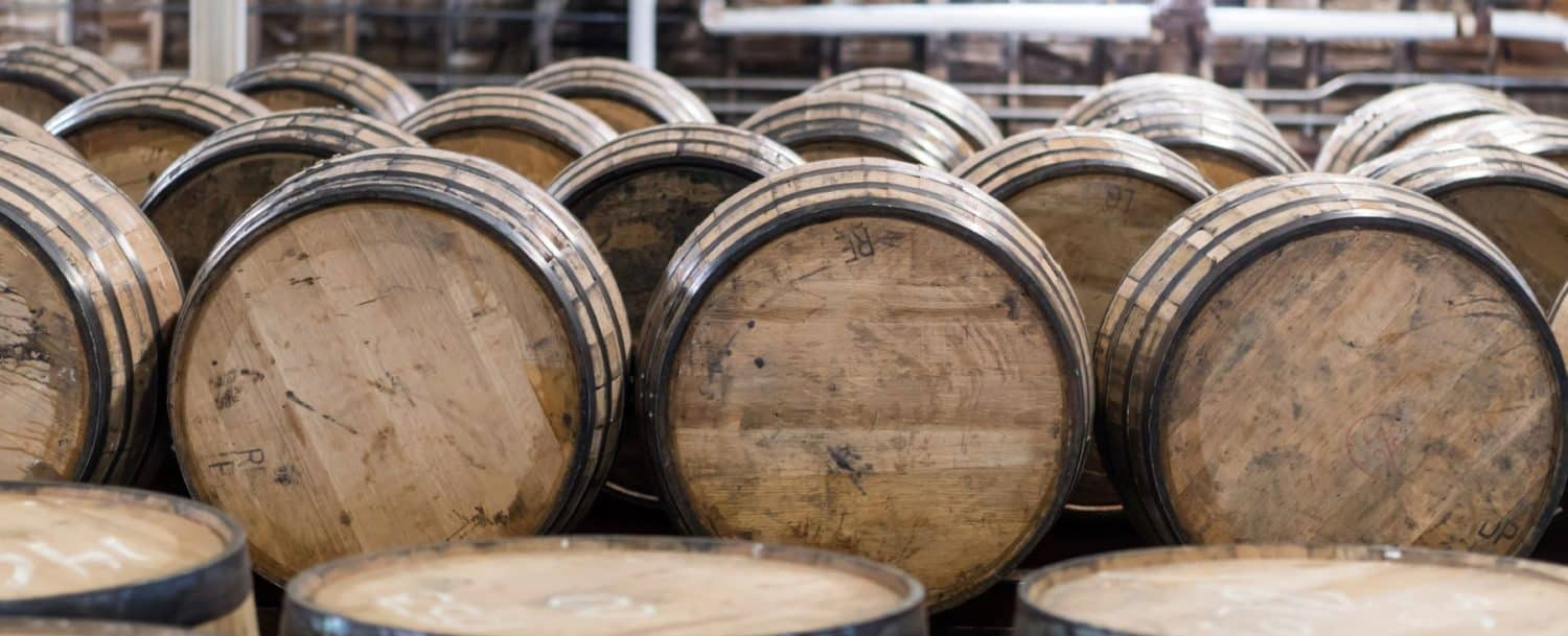 distillery whiskey barrels