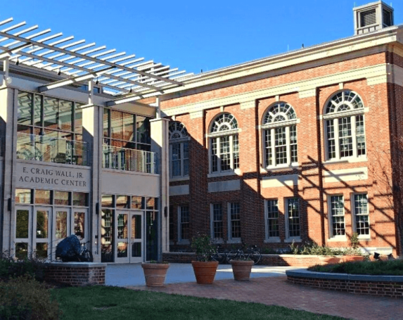 The academic center at Davidson College